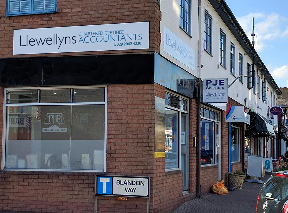 Llewellyns shop front